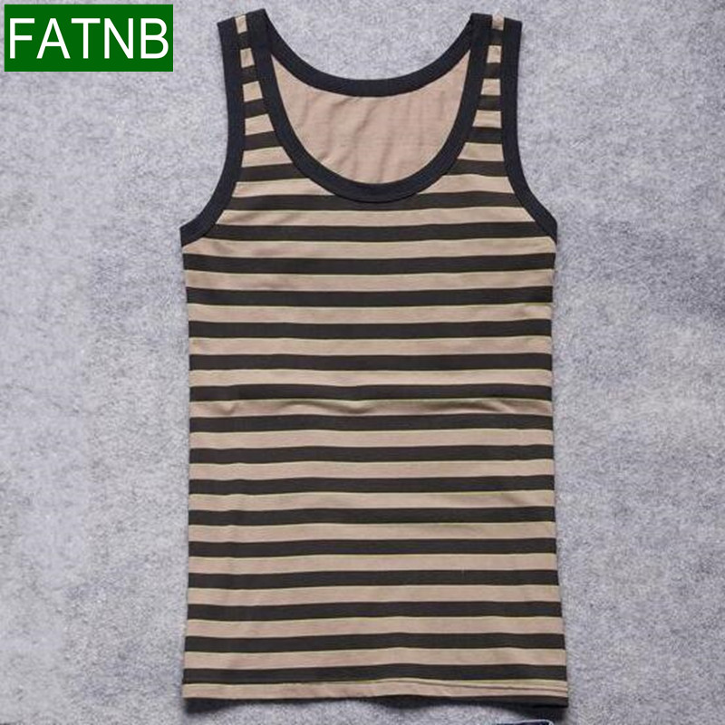 TAPOO Men's Store Body Engineers Stripe Tank Top Men Clothing Stringer Bodybuilding And Fitness Cotton Knitted Printed Sleeveless Muscle T Shirt
