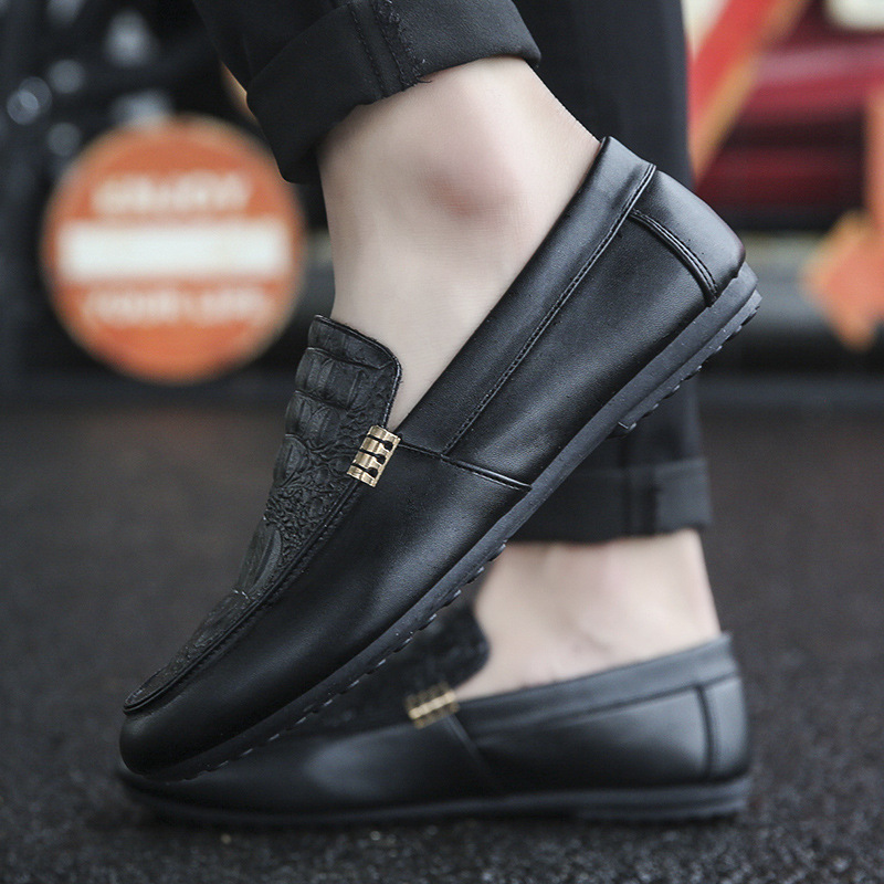 slip on casual men loafers spring and autumn mens moccasins shoes genuine leather men s flats
