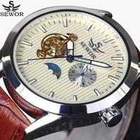 SEWOR Brands Fashion Men Automatic Mechanical Watches Top Luxury Tourbillon Watch Sports Casual Wrist Watch montre homme luxury
