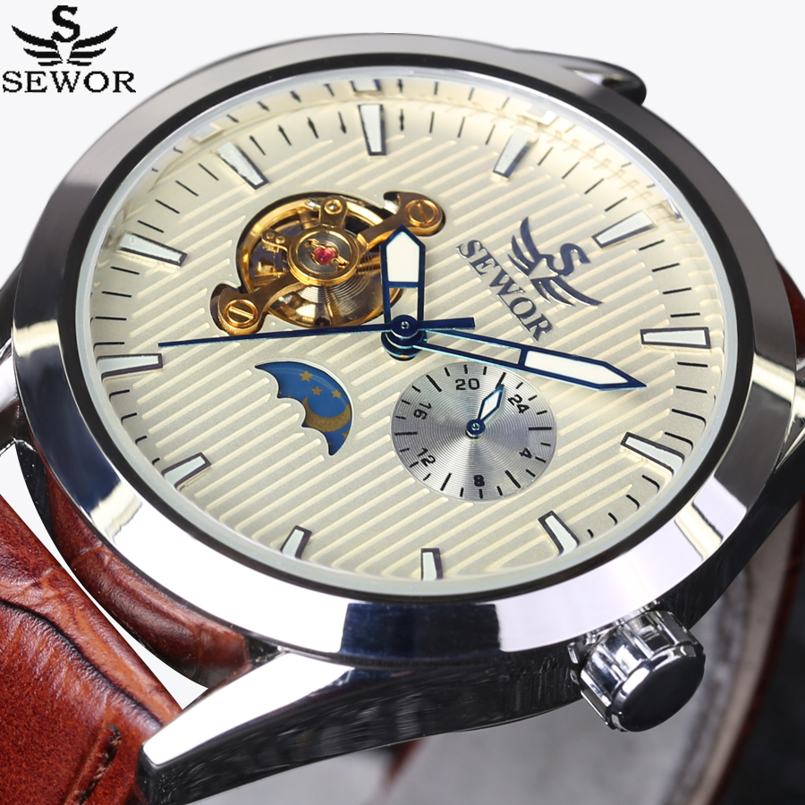 где купить SEWOR Brands Fashion Men Automatic Mechanical Watches Top Luxury Tourbillon Watch Sports Casual Wrist Watch montre homme luxury по лучшей цене