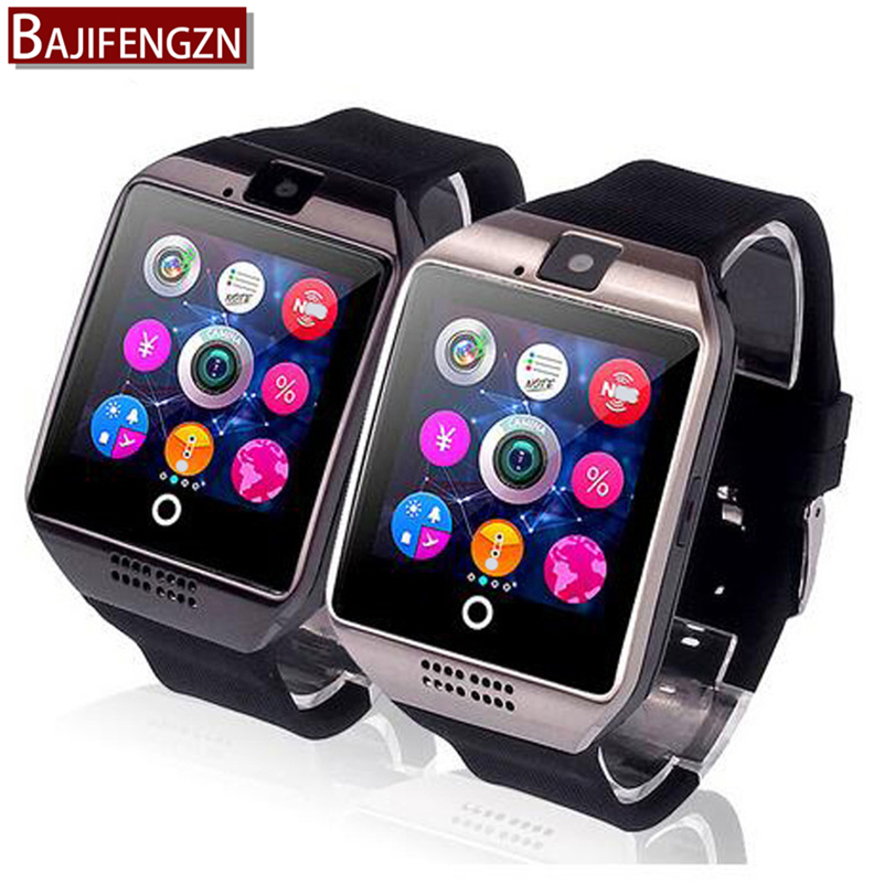 Smart Watch Q18 Plus Clock Sync Notifier Support Sim SD Card Bluetooth Connectivity Android Phone Smartwatch