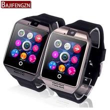 Notifier inteligente Reloj Q6 Más Reloj de Sincronización Soporte de Tarjetas SD Sim Conectividad Bluetooth Android Teléfono Smartwatch Smartwatch de Aleación A9