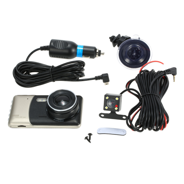 Dash Cam Cam Corder Full Hd 1080p Led Night Vision 4 Inch Dual Lens Car Dvr Camera Recorder Motion Detection Loop Recording 5
