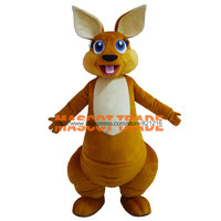 Hot Sale 2015 Adult Lovely Kangaroo Mascot Costume Custom Made Mascot Fancy Dress Costumes Animal Costume