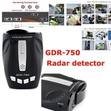 GDG-750 Car Radar Detector X, k, Ka, e Ku Russa & Inglês Alerta de Voz Sistema de Alarme de Velocidade Do Carro VG-2 Imunidade, Cidade/Estrada