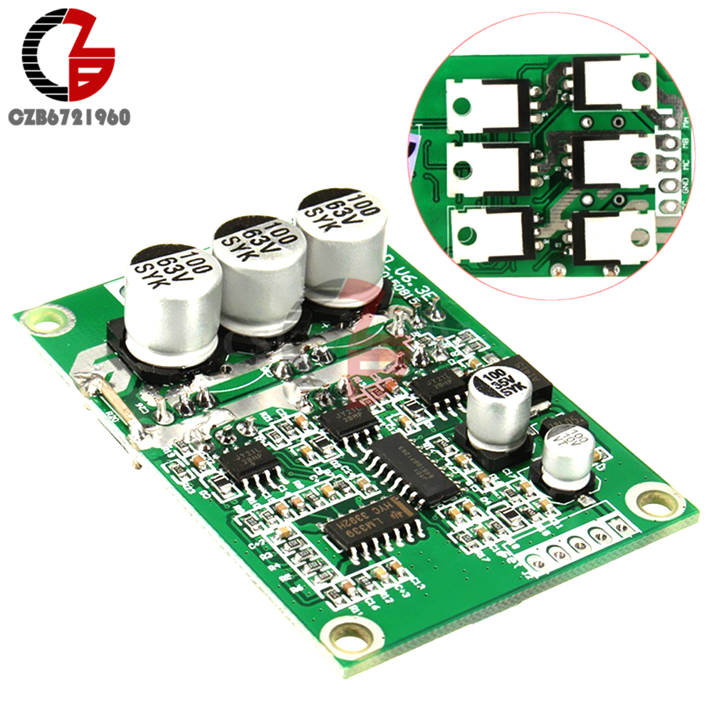 Brushless Motor PWM Control Controller Balanced BLDC Driver Board DC 12V-36 500W bldc brushless dc motor development board dspic30f motor development board pmsm permanent magnet synchronous motor development