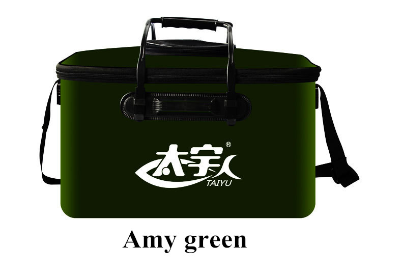 4 Color 45cm Large Folding Live Fish Thick EVA Carp Rod Bucket Water Tank Bag Container Fishing Bucket Tackle Accessories Tools