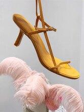 Доставка в доставку в течение 3 дней, Новинка Лето 2019, женские пикантные сандалии на высоком каблуке