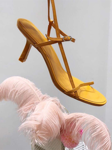 Image 1 - Доставка в доставку в течение 3 дней, Новинка Лето 2019, женские пикантные сандалии на высоком каблуке