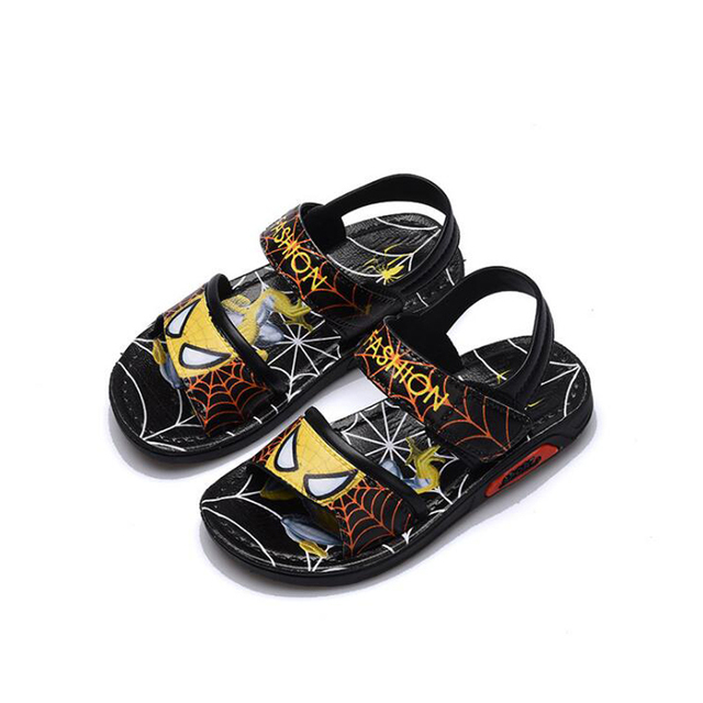 Children Shoes Boys Sandals 2019 New Summer Kids Beach Shoes Cartoon Boys Shoes Spiderman Baby Sandals Toddler Kids Sandals 1