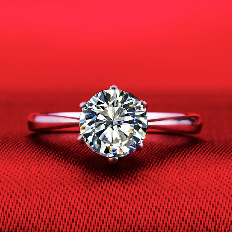 1 carat SONA synthetic diamond fashion ring 925 sterling silver classic simulation ring PT950 stamp US size from 4 to 10.5 (DFE) аксессуар комплект крыльев novatrack stamp 1 4 black 12st mdgrd bl