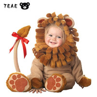 TEAEGG Baby Animal Lion Ester Halloween Costume Cute Photograph For Newborn Infant Boys Girls Cosplay Overall