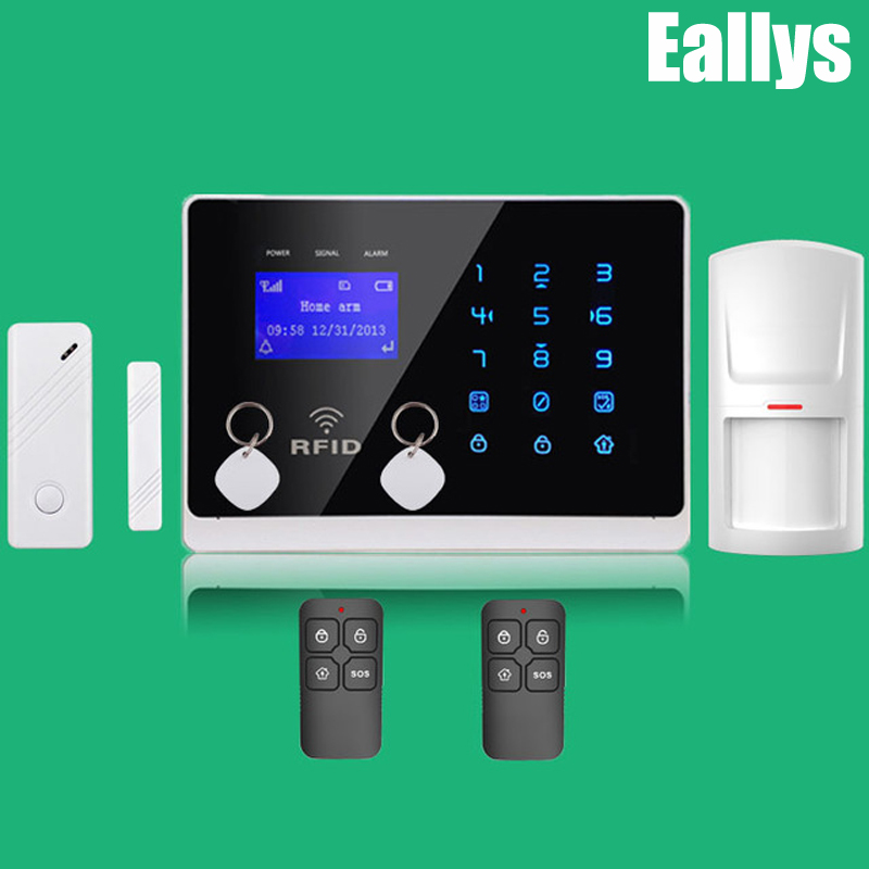 PERFECT Wireless&Wired GSM Home Security Burglar Alarm System+IOS/ Android App wireless smoke fire detector for wireless for touch keypad panel wifi gsm home security burglar voice alarm system