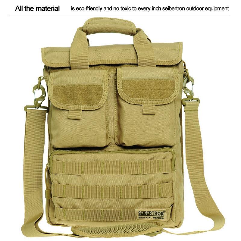 Seibertron nouveau sac à bandoulière pour ordinateur portable militaire sac Messenger en Nylon tissu sac d'ordinateur tactique sac à dos noir brwon