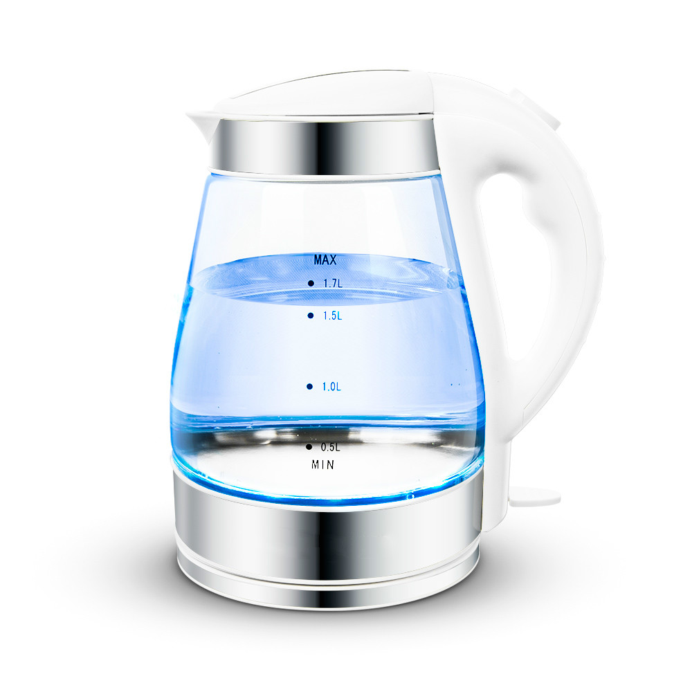 все цены на Electric kettle Blue glass electric food-grade 304 stainless steel онлайн