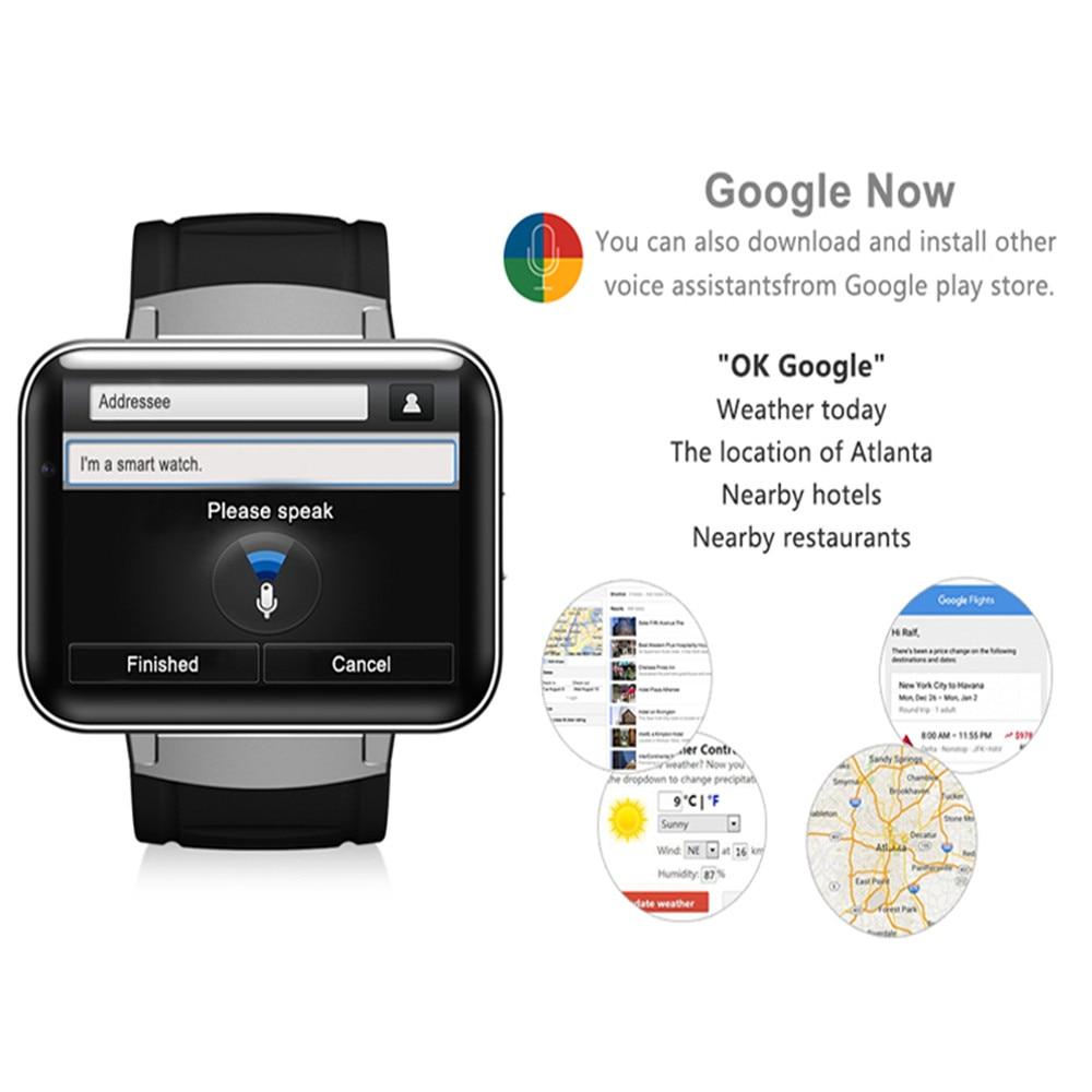 DM98 Smart Horloge MTK6572 2.2 inch Scherm 900mAh Batterij 512MB Ram 4GB Rom Android OS 3G WCDMA GPS WIFI Smartwatch Voorraad - 4