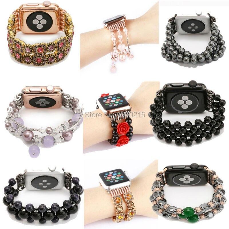 Агат группы для apple watch серии luxury агат дизайн шнур ремень С Подключением Адаптер для iwatch женщина мода стиль наручные