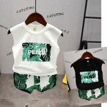 Toddler Boy Summer Beach Clothes Set Kids Baby Boy Girls Clothing Cotton Tops Printed T-Shirt Vest+Pants 2pcs Sportwear Outfits kids baby girls clothes t shirt tops vest short pants shorts children 2pcs outfits summer clothes set