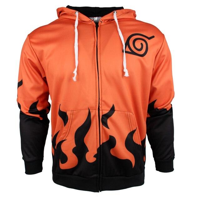 Naruto Flame Zip Up Hoodie