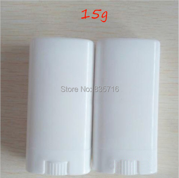 (20pieces/lot) 15g WhiteFlat empty lipstick tube DIY lip balm tube with big Volume Deodorant tubes with free shipping BP02