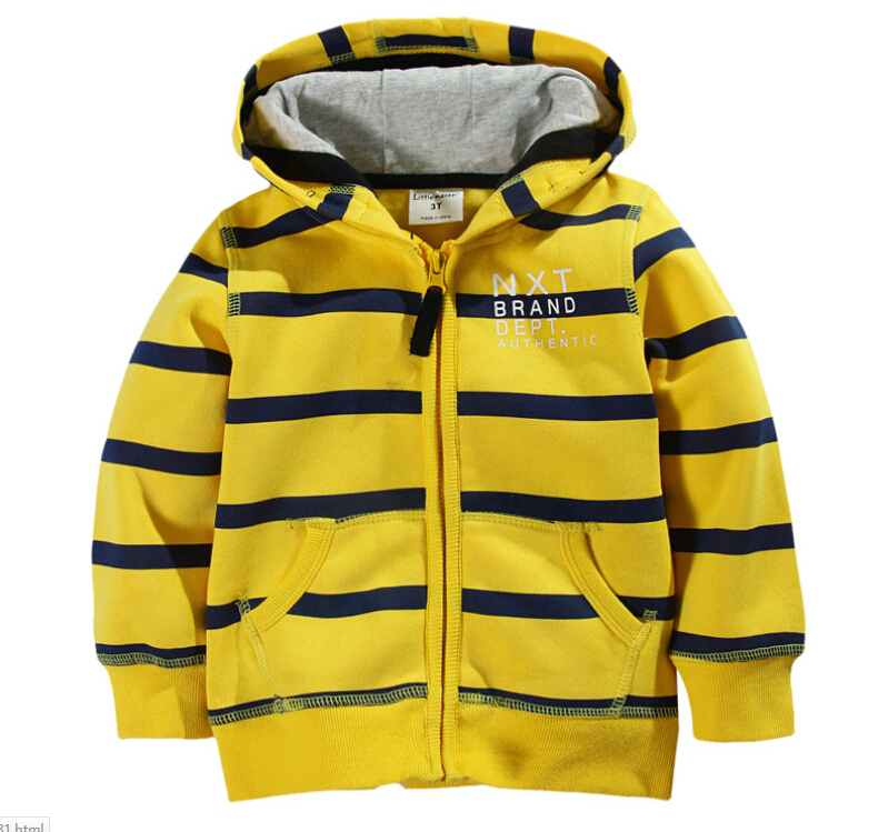 T Shirt 2016 Spring New Stripe Zipper Child Cotton Long-Sleeved T-Shirt Sweatshirt Boy Cotton Brand New Outerwear
