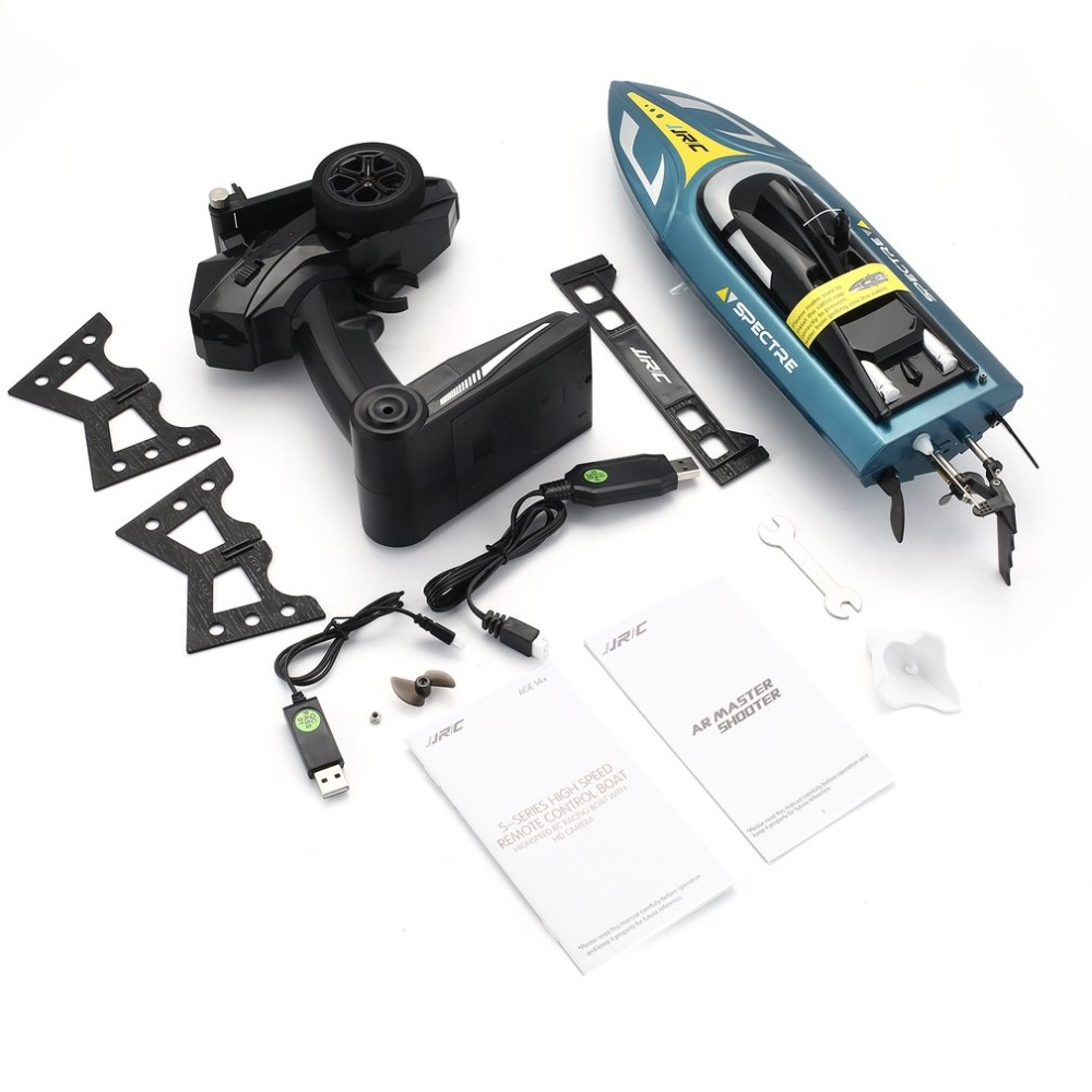 JJR/C S4 SPECTRE 2.4G 720P WIFI FPV Camera Speedboat 25km/h High Speed Ship RC Racing Boat with Self-righting for Kids GiftsJJR/C S4 SPECTRE 2.4G 720P WIFI FPV Camera Speedboat 25km/h High Speed Ship RC Racing Boat with Self-righting for Kids Gifts