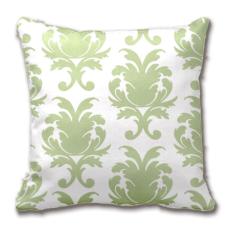Throw Pillows For Sage Green Couch : ?Sage Green Bold Large Damask Damask Pattern Pillow Decorative Cushion ? Cover Cover Pillow Case ...