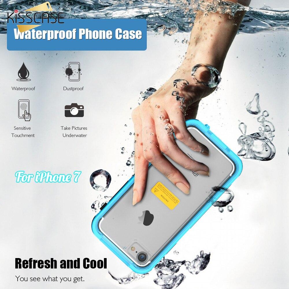 bilder für KISSCASE 7 Plus Tasche Wasserdichte Transparent Schwimm Zurück Fall Für iPhone 7 7 Plus Kristall Wasserdichten Clear Abdeckung