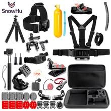 цена на SnowHu sport camera Accessories set for go pro hero 7 6 5 4 kit mount for SJCAM /SJ4000 / for xiaomi for yi 4k for eken h9 SH84V