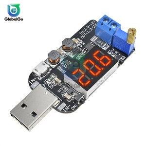 Digital USB Adjustable Boost Buck Module Step Up/Down Power Supply Current Voltage Regulator Module Converter 5V to 1-24V