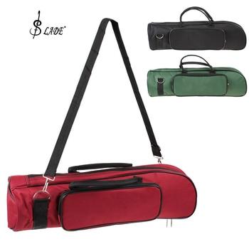 SLADE Professional Trumpet Bag Nylon Soft Cotton Bag Case Durable Double Zippers Design (3 Colors Optional) fashionable simple fashionable men s briefcase with zippers and black colour design