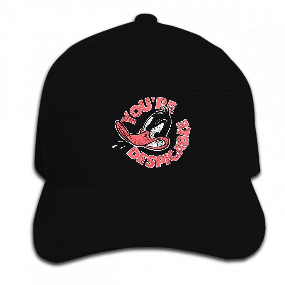 49a2c191b US $9.9 |Print Custom Baseball Cap Hip Hop Daffy Duck Despicable Looney  Tunes Bugs Bunny Toons Black Mens Hat Peaked cap-in Baseball Caps from  Apparel ...