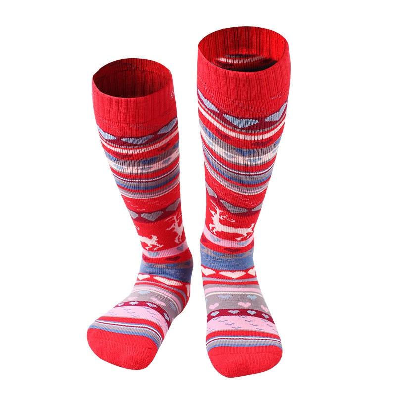 Prix pour Sport chaussette enfants de neige ski chaussettes hiver chaud chaussette genou haute à séchage rapide épaissir thermique enfants de garçon fille de snowboard chaussettes