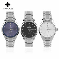 New Arrivals WWOOR WaterProof Stainless Steel Quartz Watches Casual Mechanical Watch 2016 New Fashion And Trendy