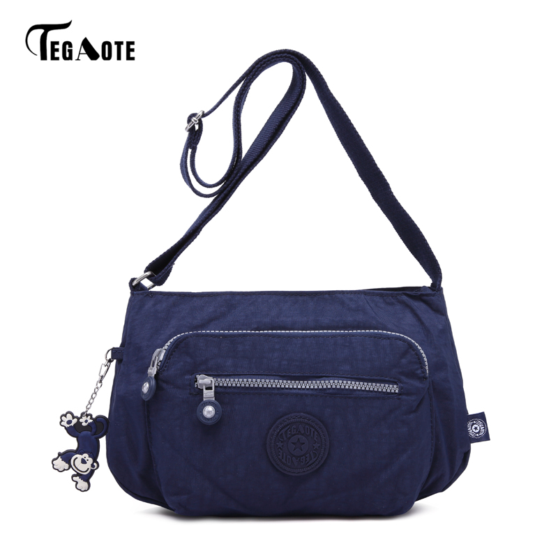 TEGAOTE Luxury Women Messenger Bag Waterproof Nylon Shoulder Bags Ladies Bolsa Feminina Travel Bag Women's Crossbody Bag 2016 ladies fashion bags waterproof nylon bag light travel women messenger bag multi colored nappy bag page 2