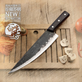 High quality handmade clip steel boning knife western kitchen knives household cutting tool Butcher knife+traditional crafts