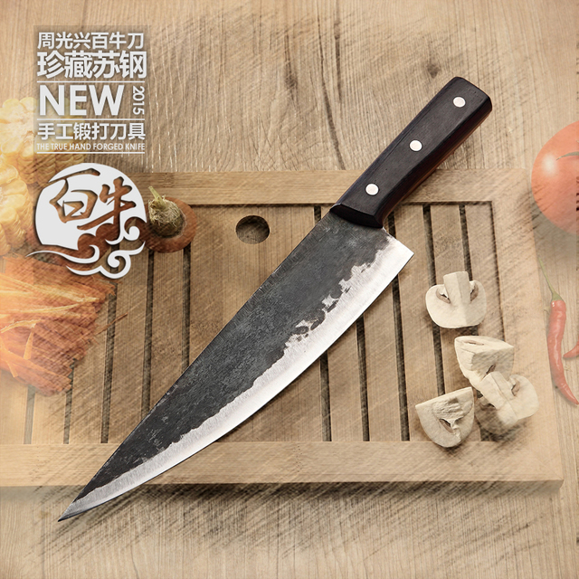 High Quality Handmade Clip Steel Boning Knife Western Kitchen Knives  Household Cutting Tool Butcher Knife+