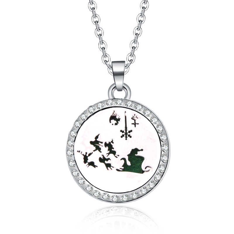 Rhinestone Essential Oils Aromatherapy lockets together forever Aroma Diffuser Perfume Pendant Necklace Valentine's Day present