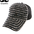custom design women girl brand baseball cap jet black bead luxury snapbacks hats woman outdoor casual strapback gorras casquette