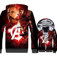 Man Captain America Thanos tracksuits 2019 winter Super hero jackets men iron fashion 3D printed hooded sweatshirt clothes coats кукла happy valley подружка кристина озвученная 2964756