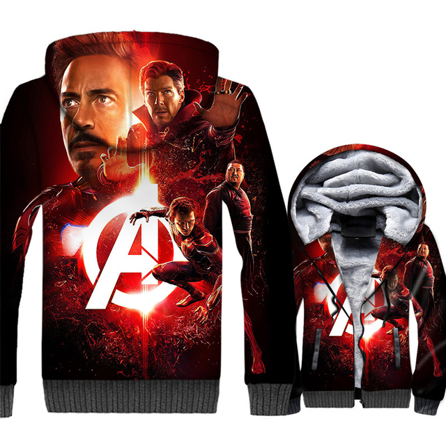 57d26098 US $31.95 29% OFF|Man Captain America Thanos tracksuits 2019 winter Super  hero jackets men iron fashion 3D printed hooded sweatshirt clothes coats-in  ...