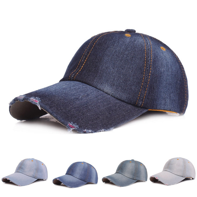 Unisex Ladies Baseball Cap Cowboy Hats Baseball Cap Lining Fall Denim Hats  For Men And Women Outdoor Sport Denim Jeans Hip Hop b8a76ee973