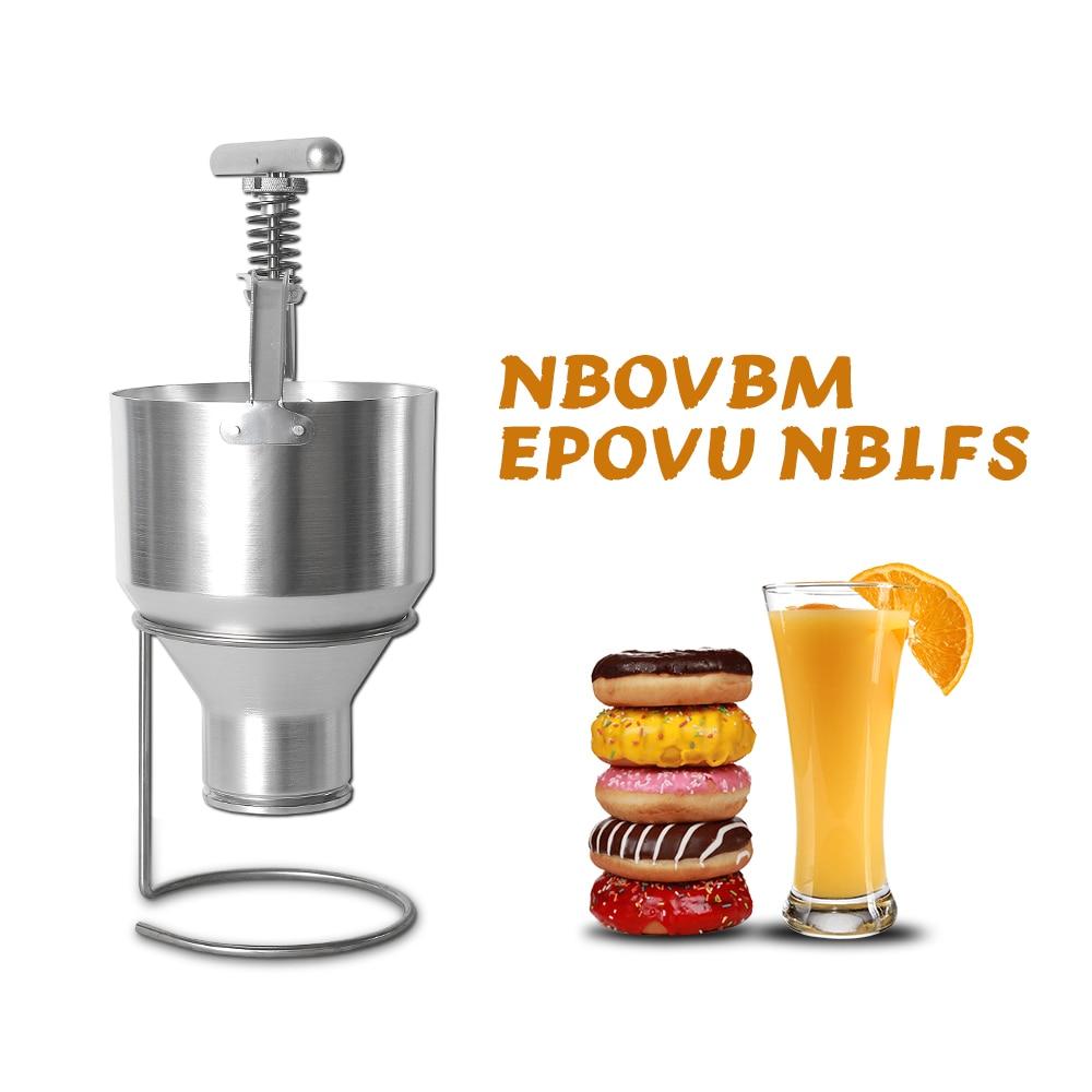 GZZT machine à beignet manuelle poignée/support en acier inoxydable + trémie en aluminium 2.5L facile à nettoyer avec réglage manuel à 6 niveaux