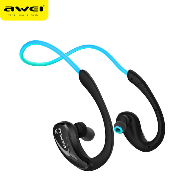 db9d511ab6d Auriculares Athlete Bluetooth 4.0 Headphones Original Awei A880BL Wireless  Sports Headset Microphone NFC Stereo Earphone