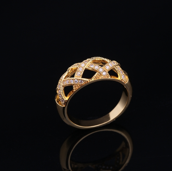 2014 Fashion Couple Jewelry Gold Plated Latest Wedding Ring Designs