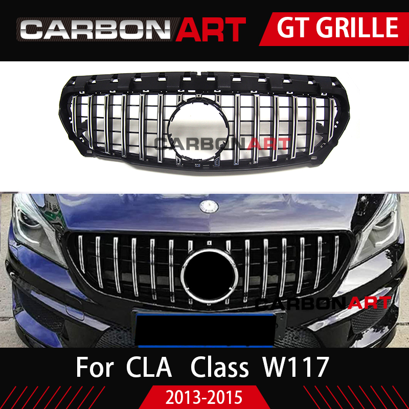 CLA W117 GT R style Grille for Mercedes Front Grill for CLA Class Mercedes amg W117 C117 CLA200 220 CLA260 300 2013 2015