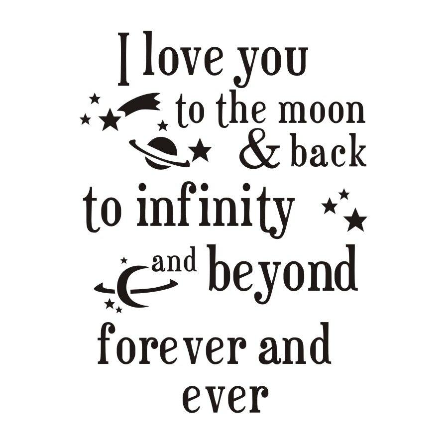 I Love U De Maan En Terug Quotes Muursticker Romantische Liefde