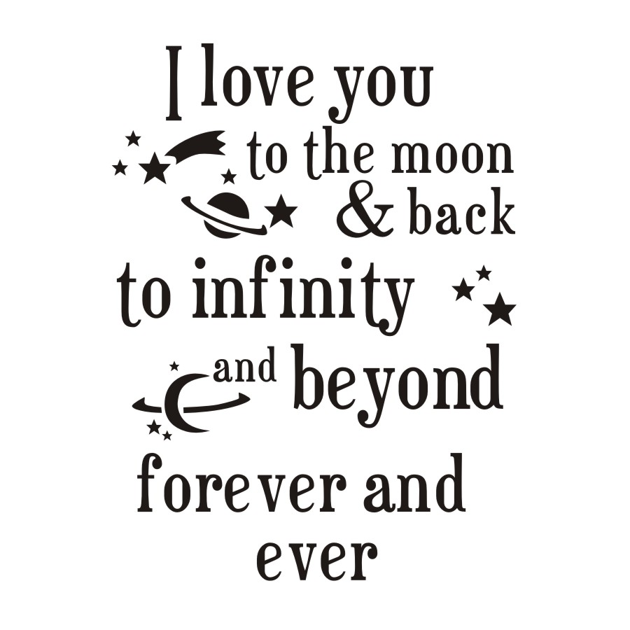 Infinity Love Quotes I Love You To The Moon And Back Quotes Wall Sticker Romantic Love