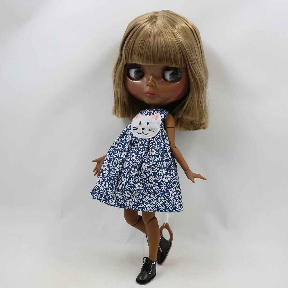 "Takara 12/"" Blythe Doll nude Toy Long Dark Brown hair Black skin from Factory"
