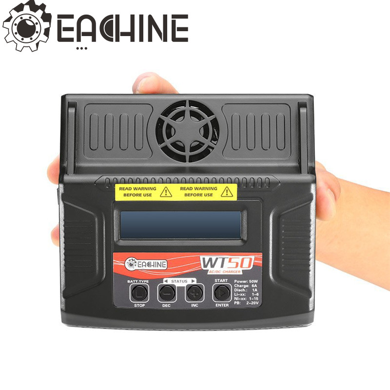 Eachine WT50 6A 50W AC/DC Balance Charger Discharger For LiPo/NiCd/PB Battery